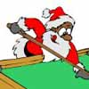 Santa Enters Pool Tournament